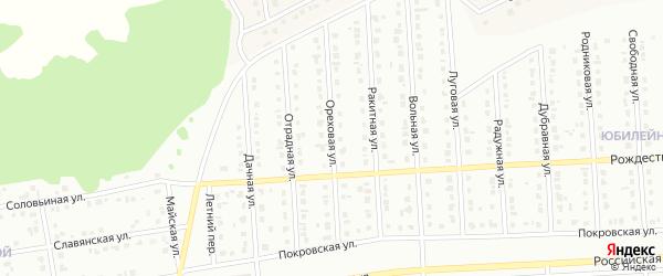 Ореховая улица на карте Губкина с номерами домов