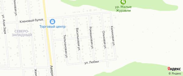 Ромашковая улица на карте Губкина с номерами домов