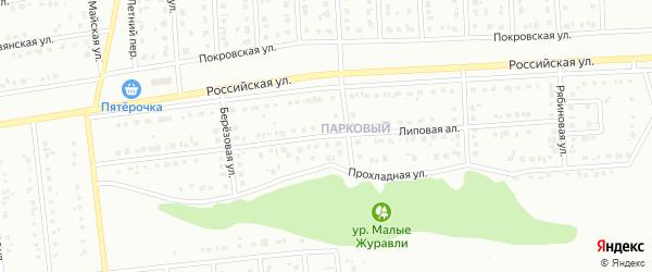 Улица Липовая Аллея на карте Губкина с номерами домов