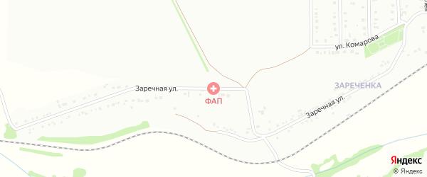 Заречная улица на карте Губкина с номерами домов