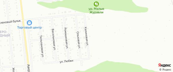 Калиновая улица на карте Губкина с номерами домов