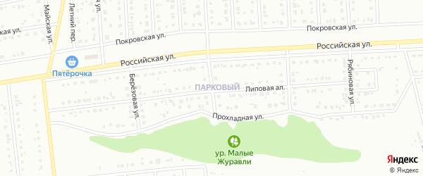 Ягодная улица на карте Губкина с номерами домов