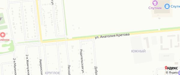 Малиновая улица на карте Губкина с номерами домов