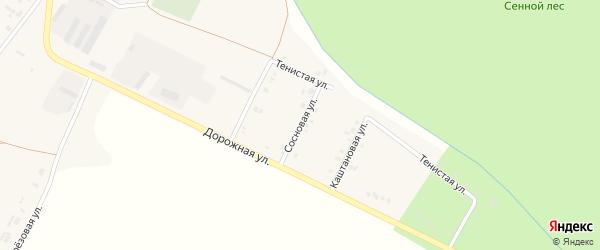Сосновая улица на карте села Сергиевки с номерами домов