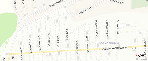 Луговая улица на карте Юбилейного микрорайона с номерами домов