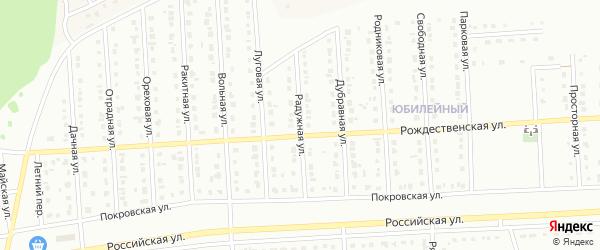 Радужная улица на карте Юбилейного микрорайона с номерами домов