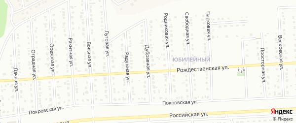 Дубравная улица на карте Юбилейного микрорайона с номерами домов