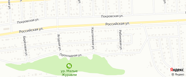Каштановая улица на карте Губкина с номерами домов