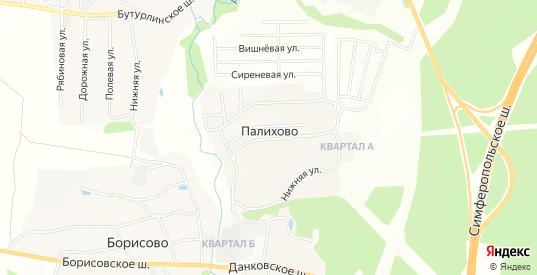 Карта деревни Палихово в Московской области