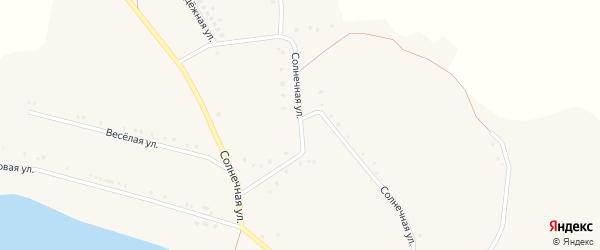 Солнечная улица на карте села Богословки с номерами домов
