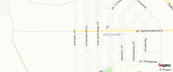 Спортивная улица на карте Губкина с номерами домов