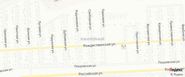 Святомихайловская улица на карте Юбилейного микрорайона с номерами домов