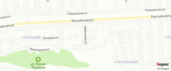 Рябиновая улица на карте Губкина с номерами домов