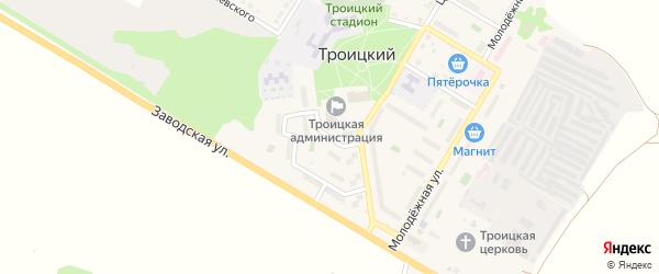 Парковая улица на карте Троицкого поселка с номерами домов