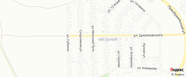 Улица Млечный путь на карте Губкина с номерами домов