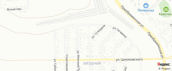 Марсианский переулок на карте Губкина с номерами домов