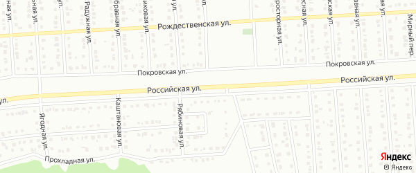 Российская улица на карте Губкина с номерами домов