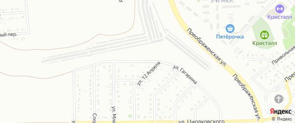 Улица Гагарина на карте Губкина с номерами домов