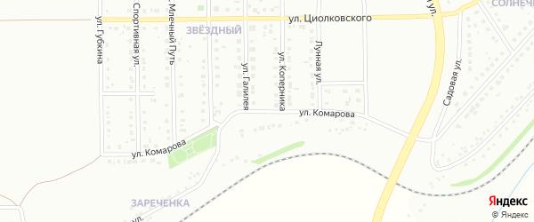 Улица Комарова на карте Губкина с номерами домов