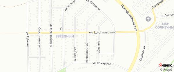 Улица Коперника на карте Губкина с номерами домов