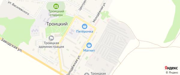 Молодежная улица на карте Троицкого поселка с номерами домов