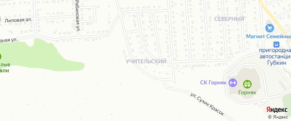 Учительский микрорайон на карте Губкина с номерами домов