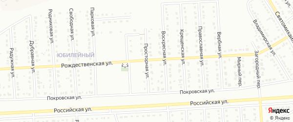 Просторная улица на карте Юбилейного микрорайона с номерами домов