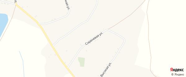 Сиреневая улица на карте села Богословки с номерами домов