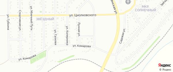 Уютный переулок на карте Губкина с номерами домов
