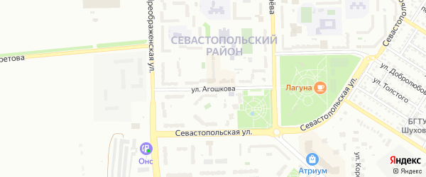 Улица Агошкова на карте Губкина с номерами домов