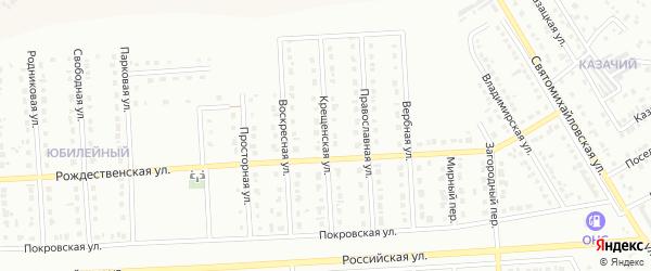 Крещенская улица на карте Юбилейного микрорайона с номерами домов
