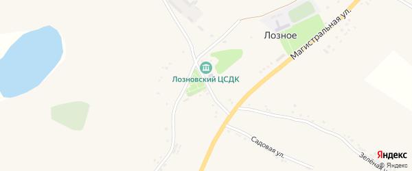Центральная улица на карте Лозного села с номерами домов