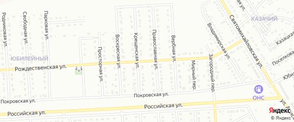 Рождественская улица на карте Юбилейного микрорайона с номерами домов