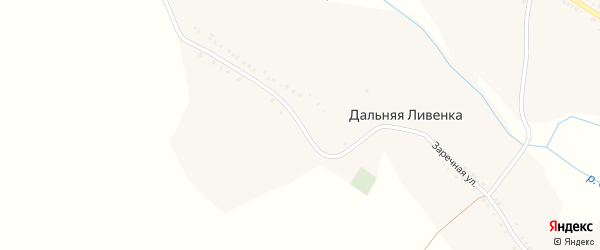Заречная улица на карте села Дальней Ливенки с номерами домов