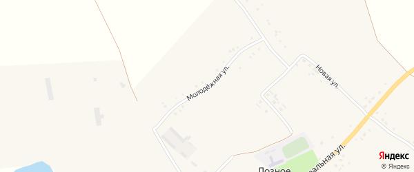 Молодежная улица на карте Лозного села с номерами домов