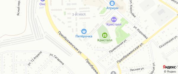 Улица Петра Великого на карте Губкина с номерами домов