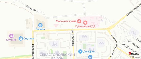 Улица Космонавтов на карте Губкина с номерами домов