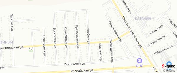 Вербная улица на карте Юбилейного микрорайона с номерами домов