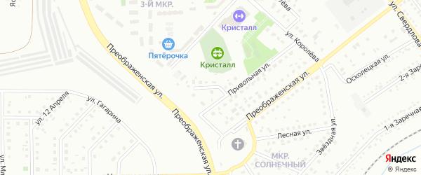 Благовещенский переулок на карте Губкина с номерами домов