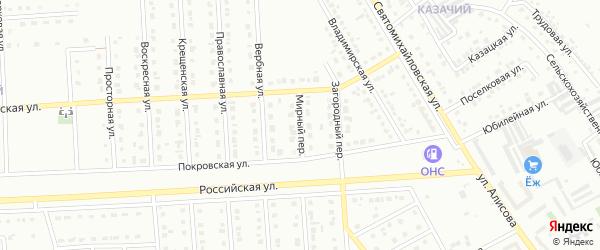 Мирный переулок на карте Юбилейного микрорайона с номерами домов