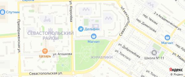 Улица Воинов-Интернационалистов на карте Губкина с номерами домов