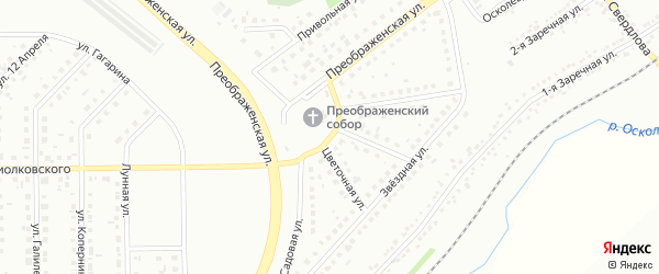 Ясная улица на карте Губкина с номерами домов
