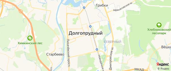 Карта Долгопрудного с районами, улицами и номерами домов: Долгопрудный на карте России