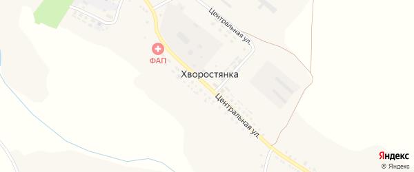 Центральная улица на карте села Хворостянки с номерами домов