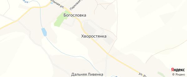 Карта села Хворостянки в Белгородской области с улицами и номерами домов