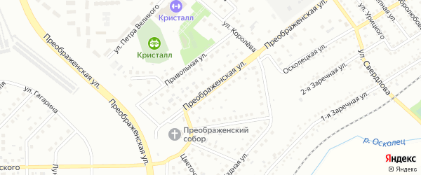 Преображенская улица на карте Губкина с номерами домов