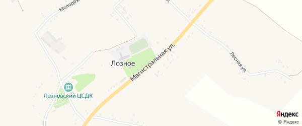 Магистральная улица на карте Лозного села с номерами домов