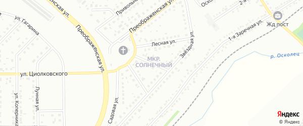 Весенняя улица на карте Губкина с номерами домов