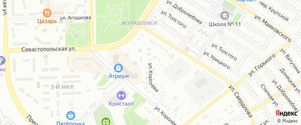 Улица Королева на карте Губкина с номерами домов