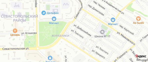 Переулок Урицкого на карте Губкина с номерами домов